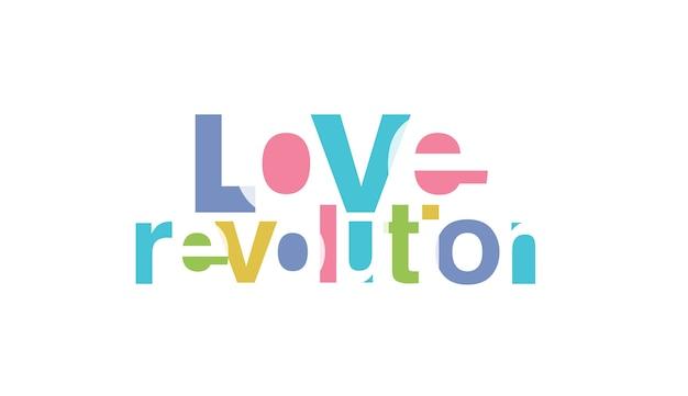 Revolução do amor Vetor Premium