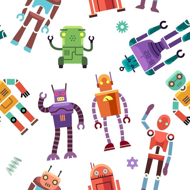 Robô de brinquedo de crianças Vetor Premium