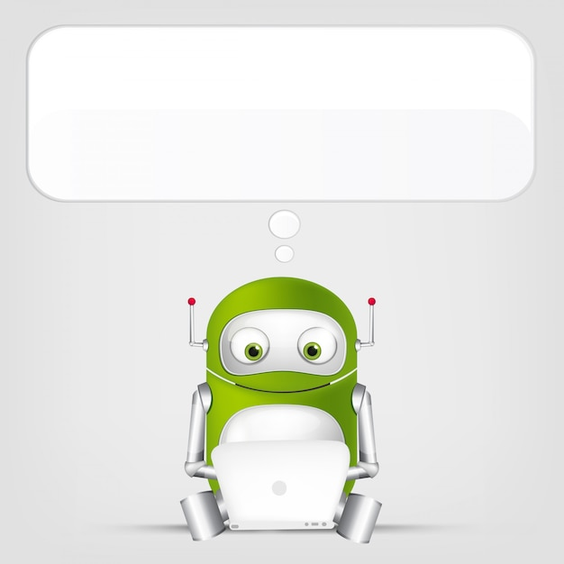 Robô fofo Vetor Premium
