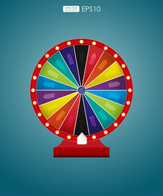 Roda colorida de sorte ou fortuna. ilustração vetorial Vetor Premium