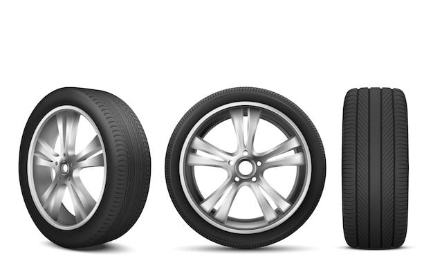 Roda de carro esporte com disco de aço japonês Vetor grátis