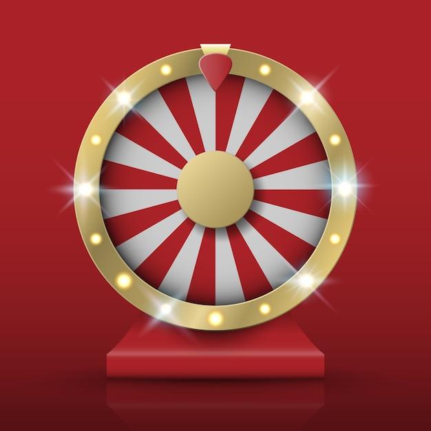 Roda de fortuna girando Vetor Premium