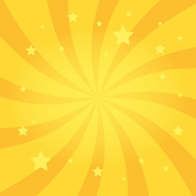 Roda fundo de estrelas radiais Vetor Premium