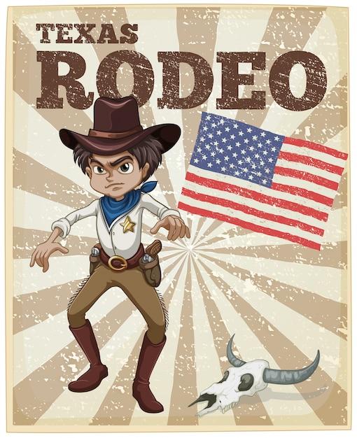 Rodeio poster Vetor grátis