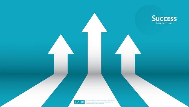 Roi de retorno sobre o investimento. lucro do aumento da carta Vetor Premium