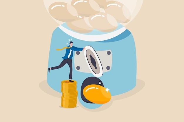 Roi, retorno do investimento ou conceito de alto lucro e investimento em ações de sucesso Vetor Premium