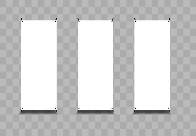 Roll banner vector ilustração em branco tranparant Vetor Premium