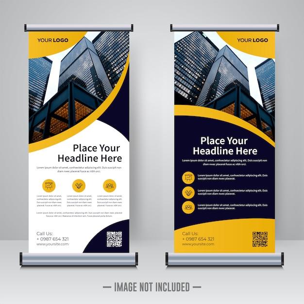Rollup corporativa ou modelo de design de banner x Vetor Premium