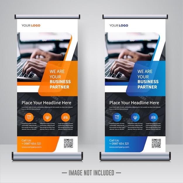 Rollup corporativo ou modelo de banner x Vetor Premium