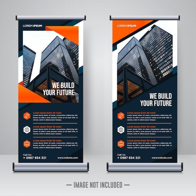 Rollup corporativo ou modelo de design de banner x Vetor Premium