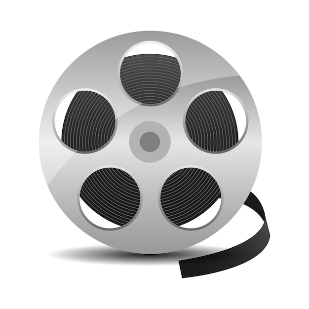 Rolo De Filme Com Fita De Cinema Vetor Premium