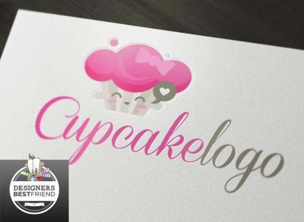 Favoritos Rosa do logotipo do cupcake cartão de visita | Baixar vetores grátis BN07