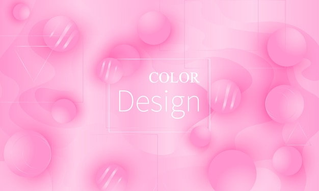 Rosa . formas fluidas. ilustração. Vetor Premium