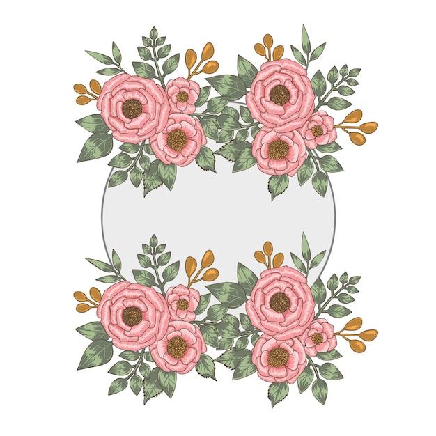 Rosas de convite Vetor Premium
