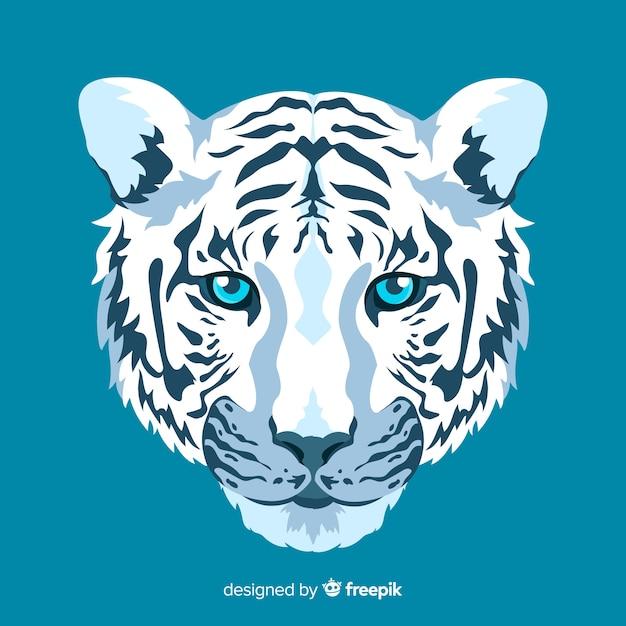 Rosto de tigre elegante Vetor grátis