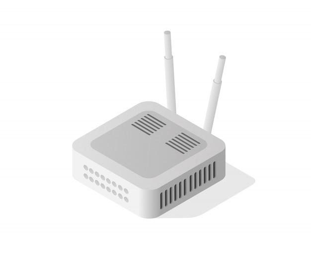 Roteador isométrico da internet Vetor Premium