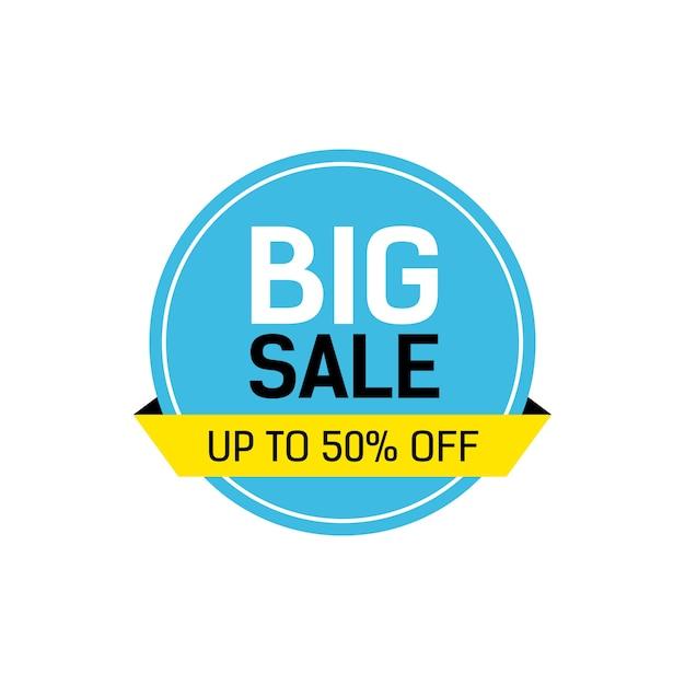 Rotulação de venda grande em quadro redondo Vetor grátis