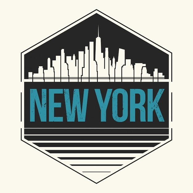 Rótulo da cidade de nova york Vetor Premium