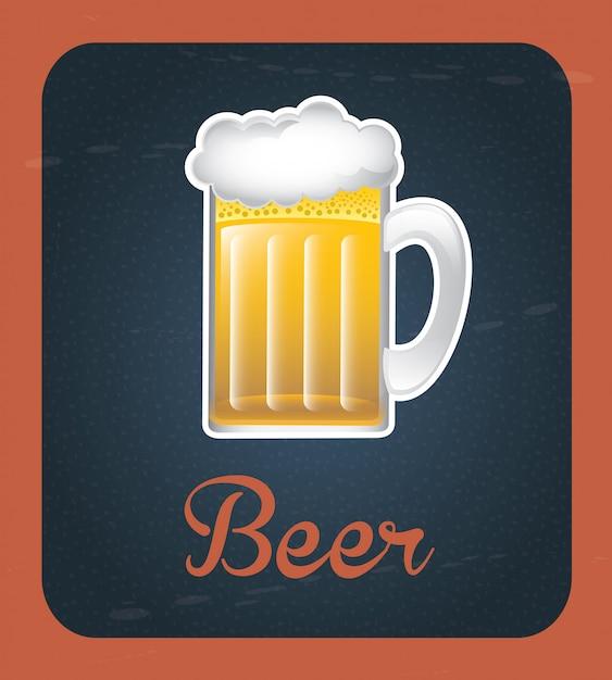 Rótulo de cerveja Vetor Premium