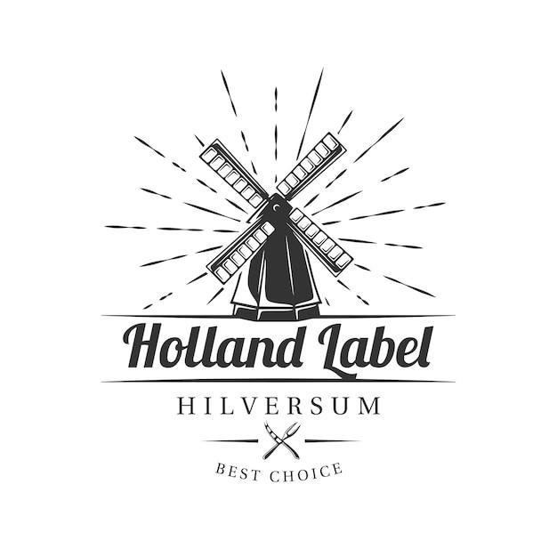 Rótulo de fazenda de leite em fundo branco. elemento para fazenda de queijo. modelo de logotipo, sinalização, branding. ilustração Vetor Premium
