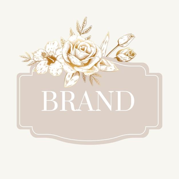 Rótulo de marca romântica Vetor grátis