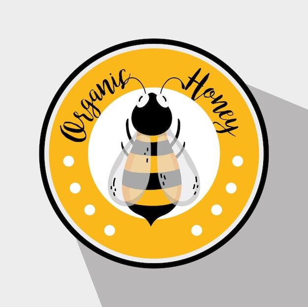 Rótulo de mel orgânico Vetor Premium