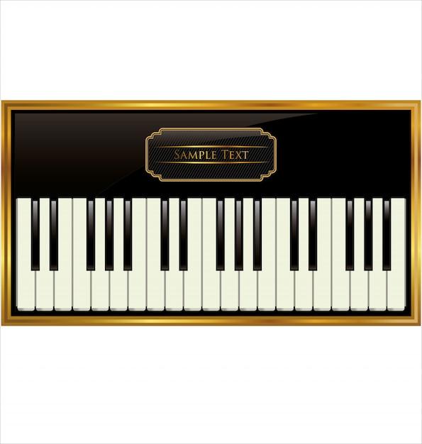 Rótulo de música jazz Vetor Premium