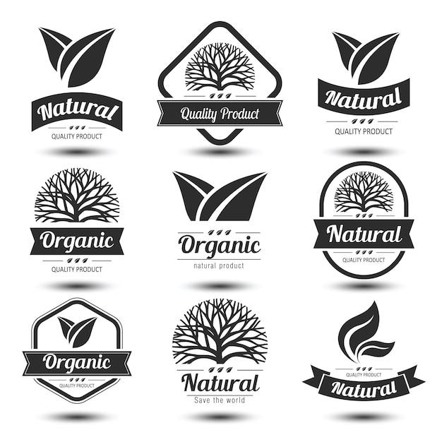 Rótulo de natureza Vetor Premium