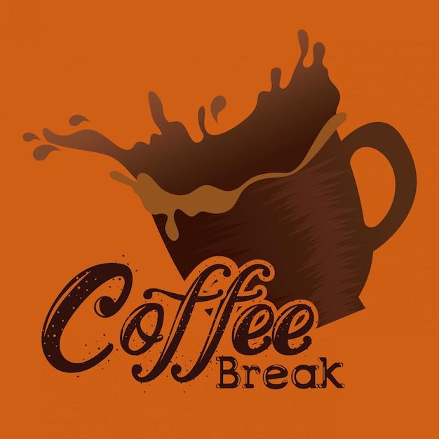 Rótulo de pausa para café delicioso Vetor grátis