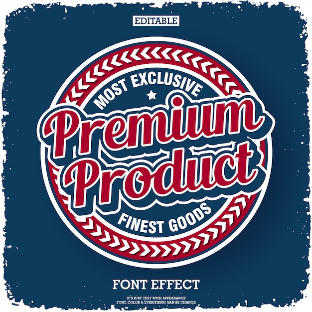 Rótulo de produto premium com estilo retro Vetor Premium