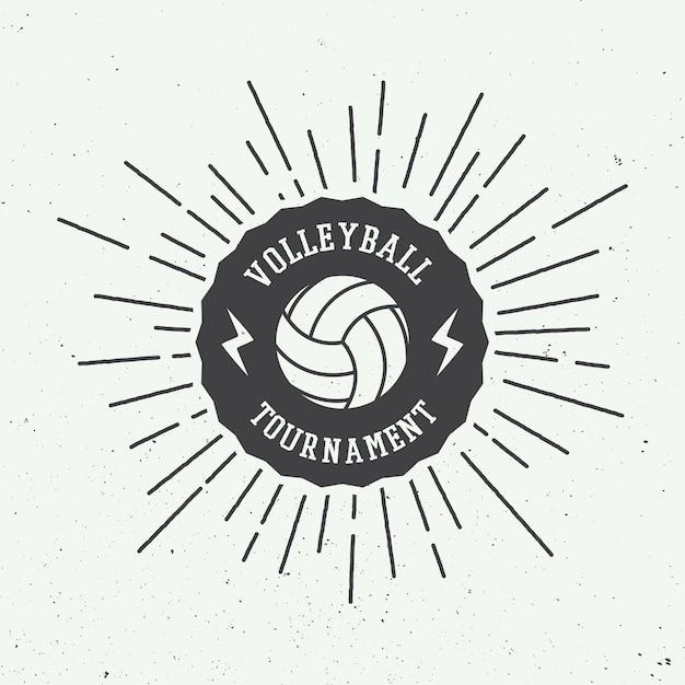 Rótulo de voleibol Vetor Premium