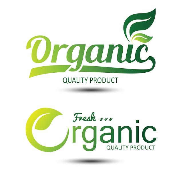Rótulo orgânico Vetor Premium