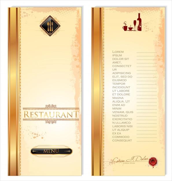 Rótulos de restaurante e café Vetor Premium