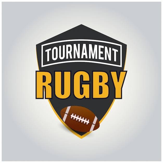 Rugby tournament logo american logo sport Vetor grátis