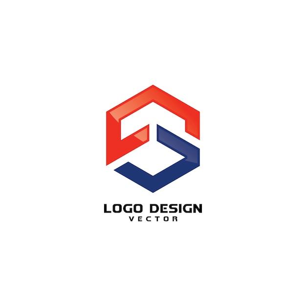 S logo design vector Vetor Premium