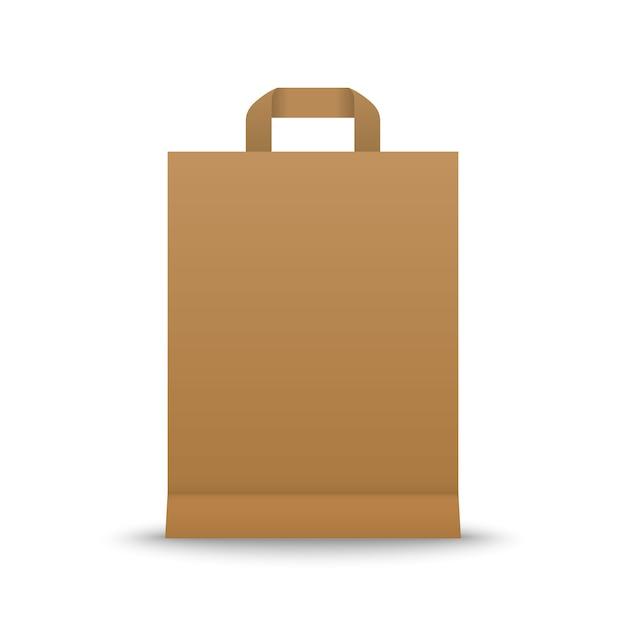Saco de compras de papel Vetor Premium