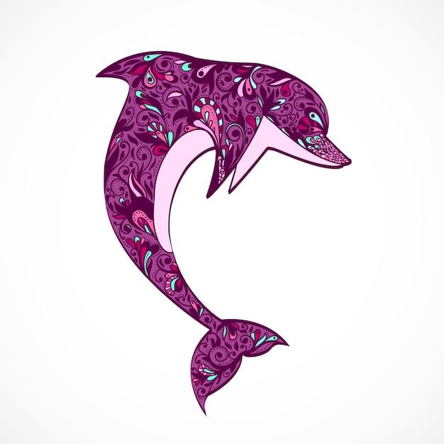 Salto de golfinho Vetor grátis