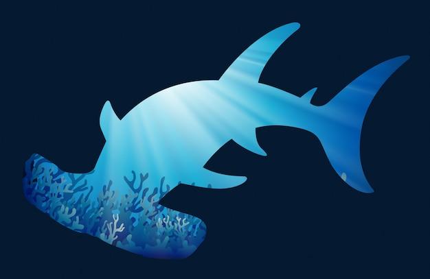 Salvar o tema da vida selvagem com whaleshark Vetor grátis