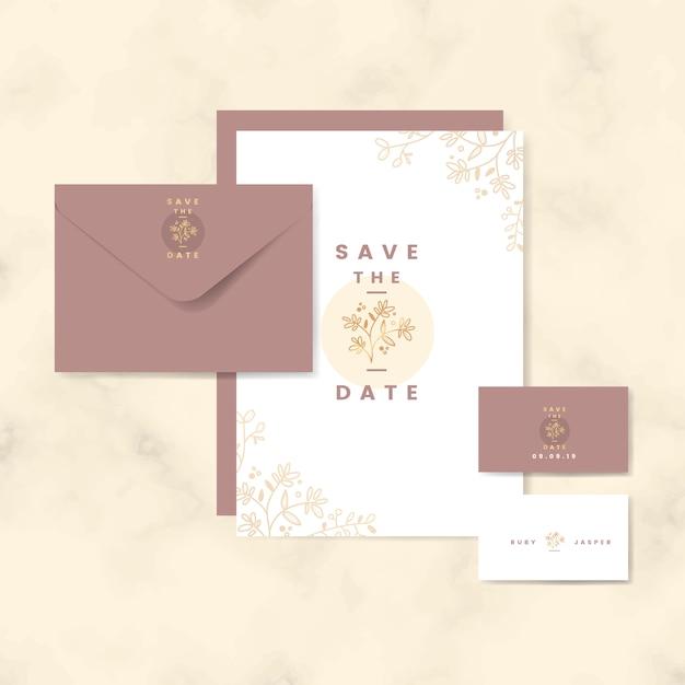 Salvar uma coleção de cartões de data Vetor grátis