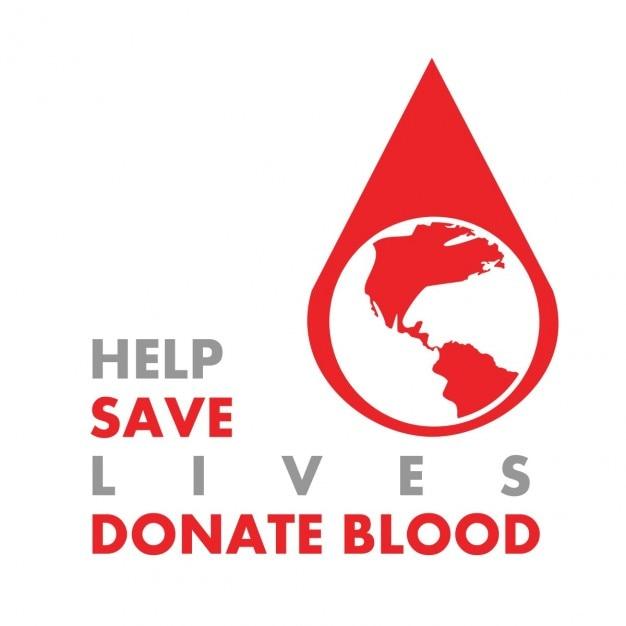 Salvar vidas e doe sangue Vetor grátis