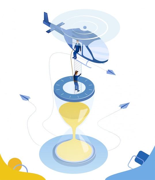 Salvation vertical do insecto dos desenhos animados dos fins do prazo. Vetor Premium