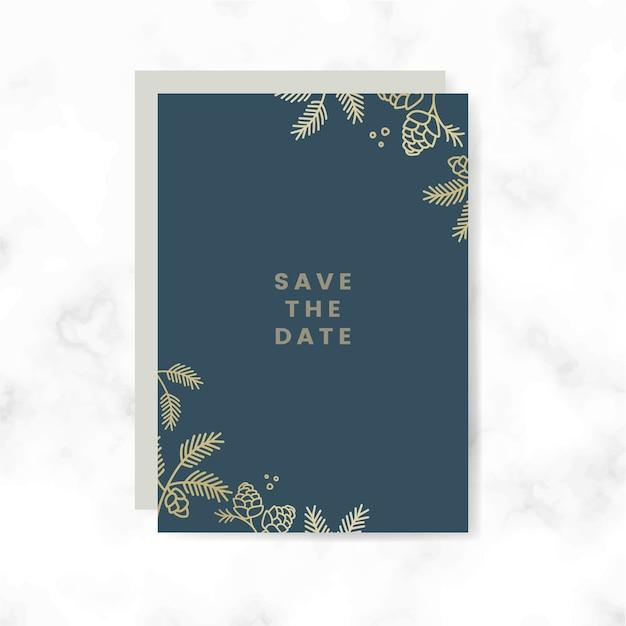 Salve o vetor de cartão de data Vetor grátis