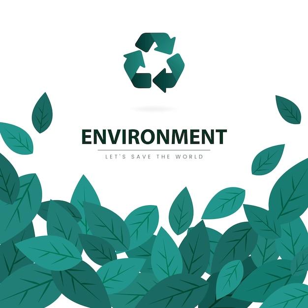Salve o vetor de conservação ambiental do mundo Vetor grátis