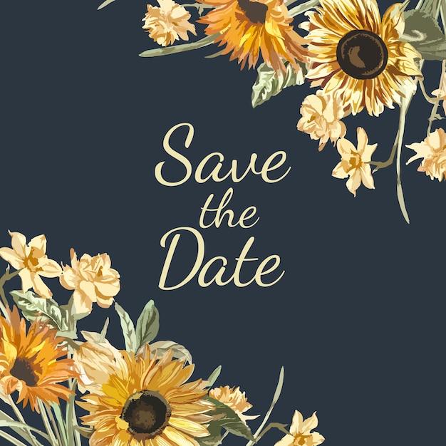 Salve o vetor de maquete de convite de data Vetor grátis