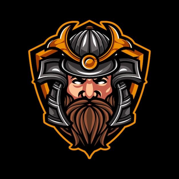 Samurai logo sport Vetor Premium