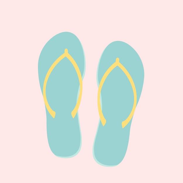 Sandálias de dedo Vetor grátis