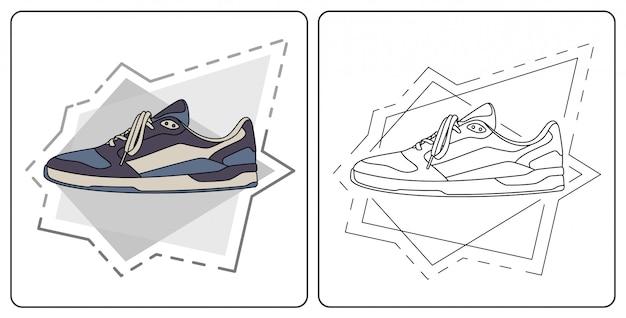 Sapato diário fácil editável Vetor Premium