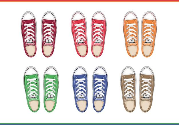 Sapatos masculinos vista de cima Vetor grátis