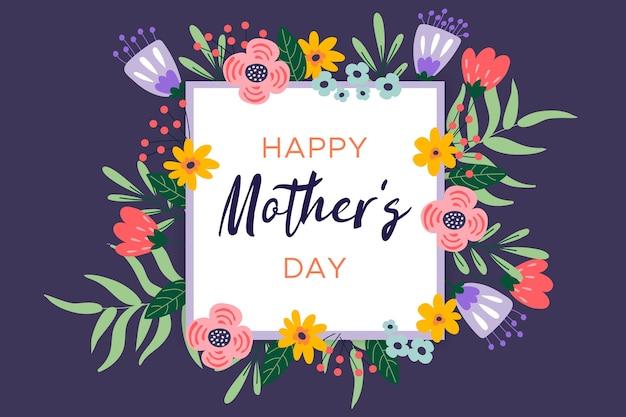 Saudação floral do dia das mães Vetor grátis