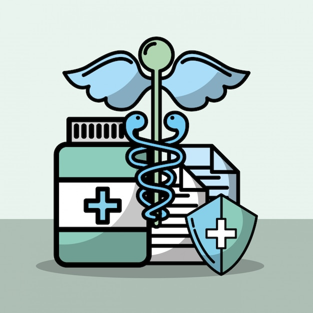 Saúde médica relacionada Vetor Premium